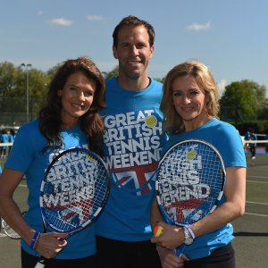NEWS: Gabby Logan and tennis stars launch Great British Tennis Weekend.