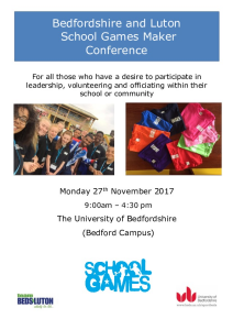School Games Maker Conference Programme 2017