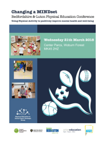 Bedfordshire and Luton Primary PE and Sport Conference Programme 2018