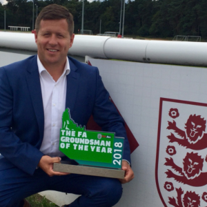 Wes Matthews of Elstow Abbey FC wins National Groundsman of the Year!