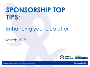 Sponsorship Workshop 2019