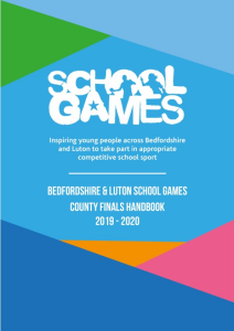School Games County Finals Handbook 2019 - 2020