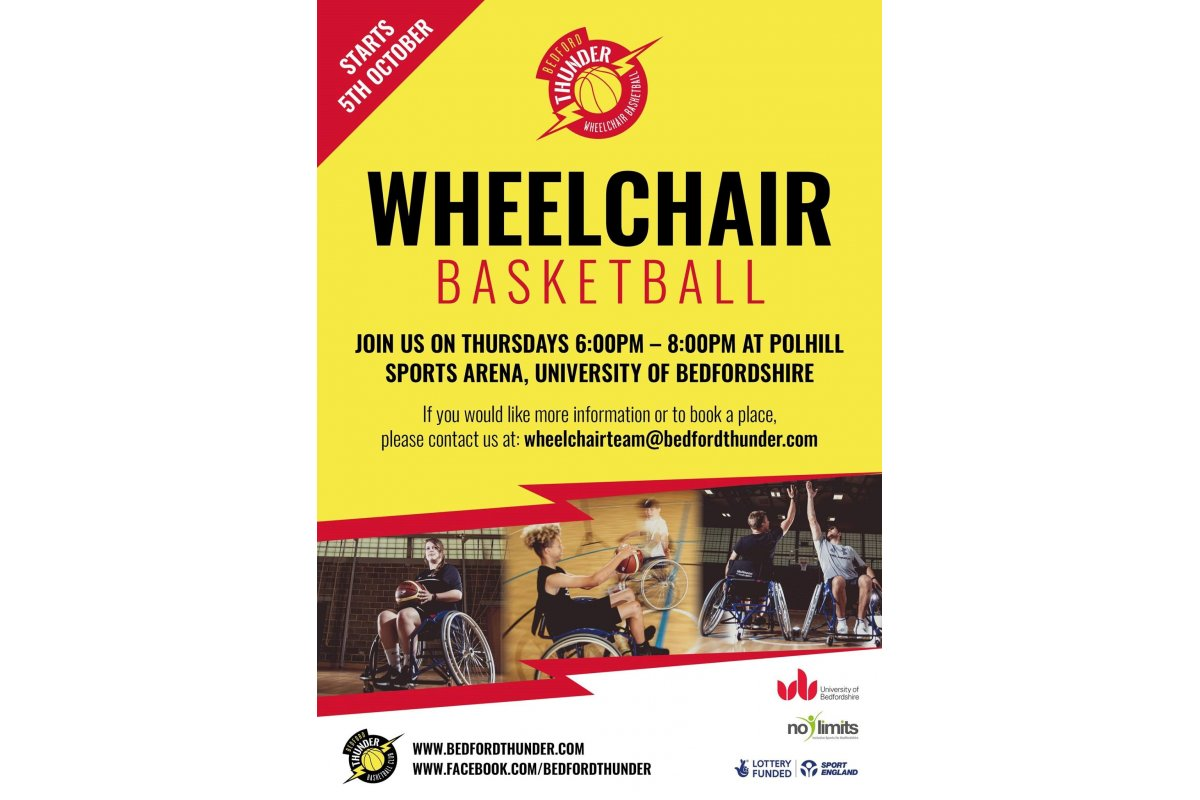 Wheelchair Basketball Comes to Bedford Uni every Thursday - Find out more
