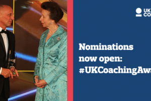 Nominations now open for prestigious UK Coaching Awards