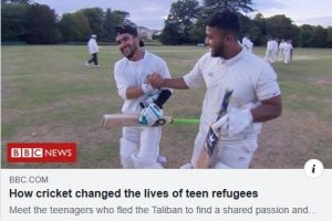 Cricket changes life for team of Afghanistan refugees