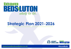 Our Strategic Plan team BEDS&LUTON 2018 2021