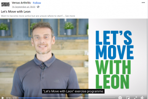 Versus arthritis - lets move with leon - sign up now live!