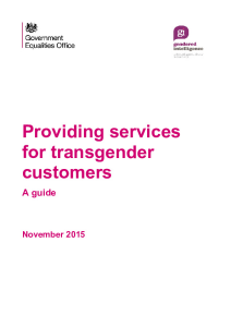 Providing Services for Transgender Customers Guide