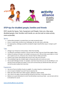 STEP tips for disabled people families and friends original