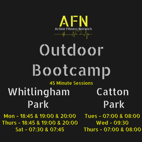 Action Fitness Norwich BOOTCAMPS Banner
